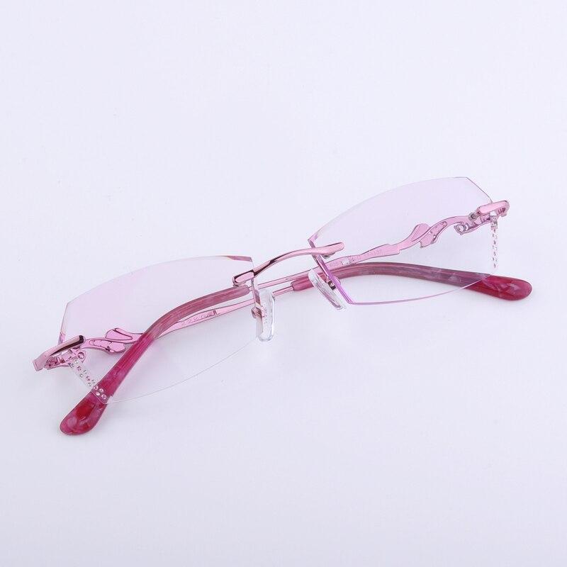 Conception personnelle lunettes pour VIP pur titaniue haute qualité avec pierres précieuses colorées