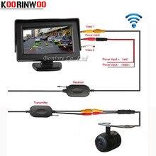 2,4G Wireless Rückfahr HD Back up Rückfahrkamera Mit 4,3 zoll Screen TFT LCD Bildschirm HD Panel Farbe Rückfahrkamera Monitor