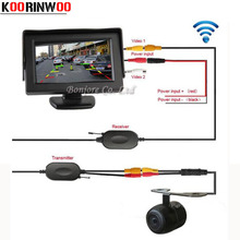 Koorinwoo CCD 2 4G Wireless HD Reverse Back up Car Rear View Camera 4 3 Inch