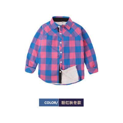 Meninos mais camisas de veludo camisas xadrez das crianças mangas compridas camisas de maré das crianças inverno camisas grossas das crianças inverno