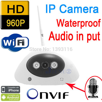 freeshipping audio ip camera 960P 1.3mp hd Wireless wifi cameras infrared mini cctv systems security door home video indoor