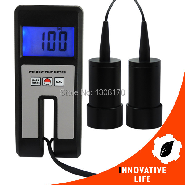 Visual Light Transmission 18mm Thickness Continuous Measuring Digital 100% Range Glass Plastic Window Tint Meter with Sensor coloring of trees