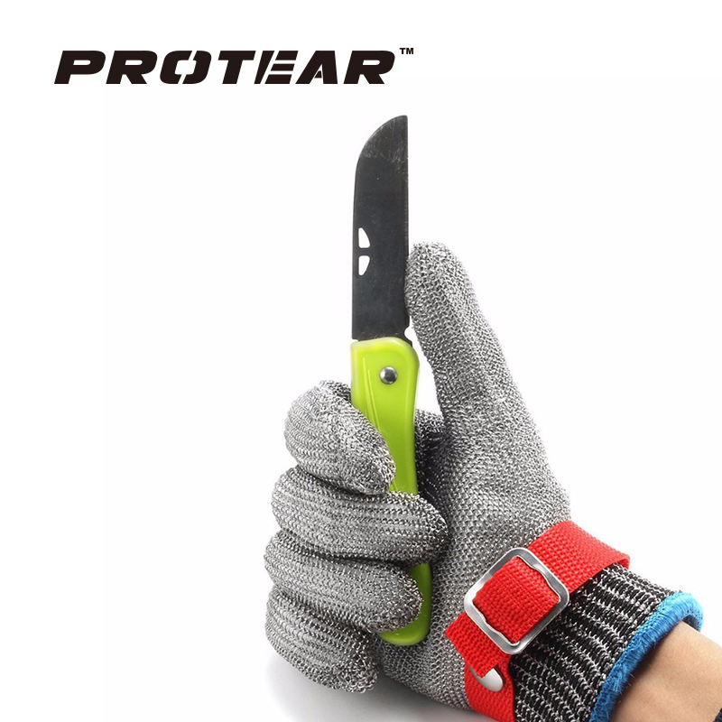 Safety Cut Proof Stab Resistant work gloves Stainless Steel Wire Safety Gloves Cut Metal Mesh Butcher Anti-cutting Work Gloves black stainless steel wire resistace gloves anti cutting breathable work gloves safety anti abrasion gloves free shipping