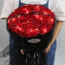 Букет роз, подарок на день рождения для подруги и девушки, имитация поддельных цветов, мыльница, День святого Валентина