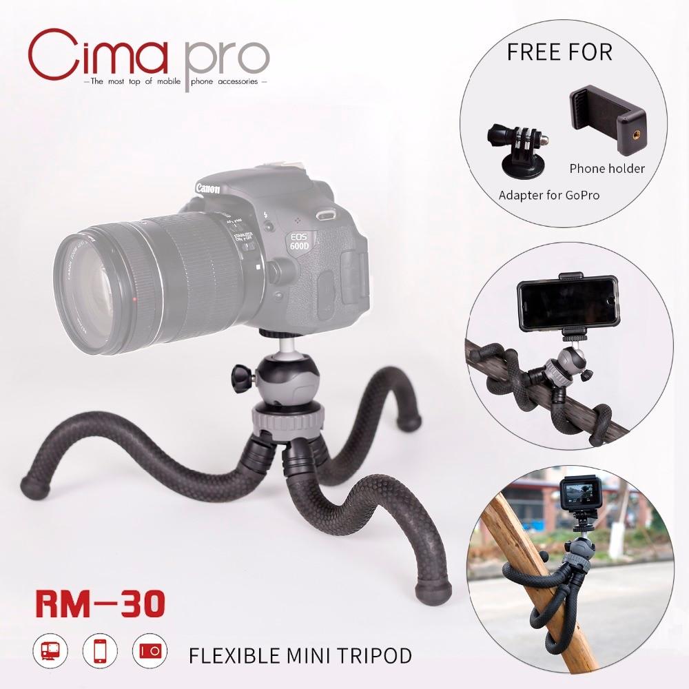 Cima Pro RM-30 Travel Outdoor Mini Bracket Stand Octopus Tripod Flexible Tripe For Phone Digital Camera GoPro