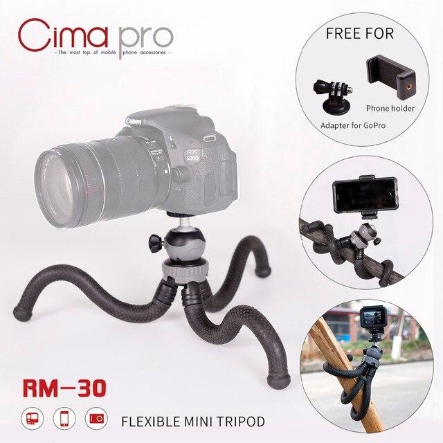 Cima pro RM-30 tripe de Viagem Ao Ar Livre Mini Octopus Tripé flexível Bracket Suporte Para Câmera Digital telefone GoPro