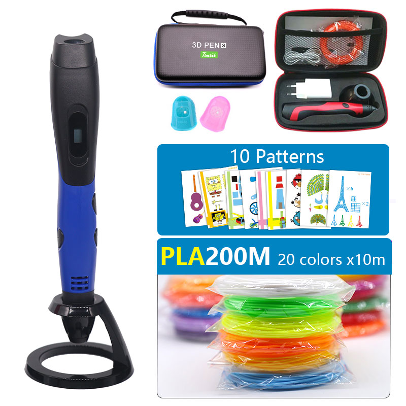 New version USB 3d pen 3d printer pen with1.75mm pla filament  USB power supply DC 5V 2A with beautiful stron bag Easy to carry