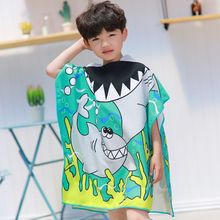 Cartoon bath towel bathrobe for children baby hooded boys and girls beach cape