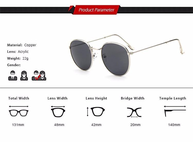 Luxury Brand Design Round Aviator Sunglasses Women Retro Brand Sun Glasses For Women Female Lady Sunglass Driving Mirror Glasses (8)