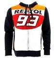 Las últimas envío gratuito 93 moto gp repsol sudaderas sudaderas chaquetas de la motocicleta de motocross deportes al aire libre capa ocasional