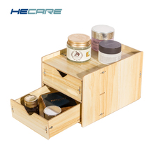 2017 New Drawer Organizer Box Wooden Storage Boxes with Drawers Divider Home Desk Desktop Wood