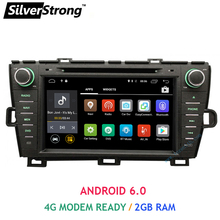 SilverStrong Android6.0 2GB DDR3 Prius 2 din car dvd for right hand drive Toyota Prius with 4G LTE Modem all band support SWC