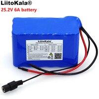 Liitokala 24V 6Ah 6S3P 18650 batería 6000mAh bicicleta eléctrica ciclomotor/eléctrico/Paquete de batería de iones de litio con 25 2 v BMS protección