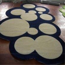 Синяя серия круглых ковров для гостиной компьютерного кресла, коврик для детской игровой палатки, коврик для гардеробной и ковров
