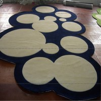 Nordic blue Series Round Carpets For Living Room Computer Chair Area Rug Children Play Tent Floor Mat Cloakroom Rugs And Carpets