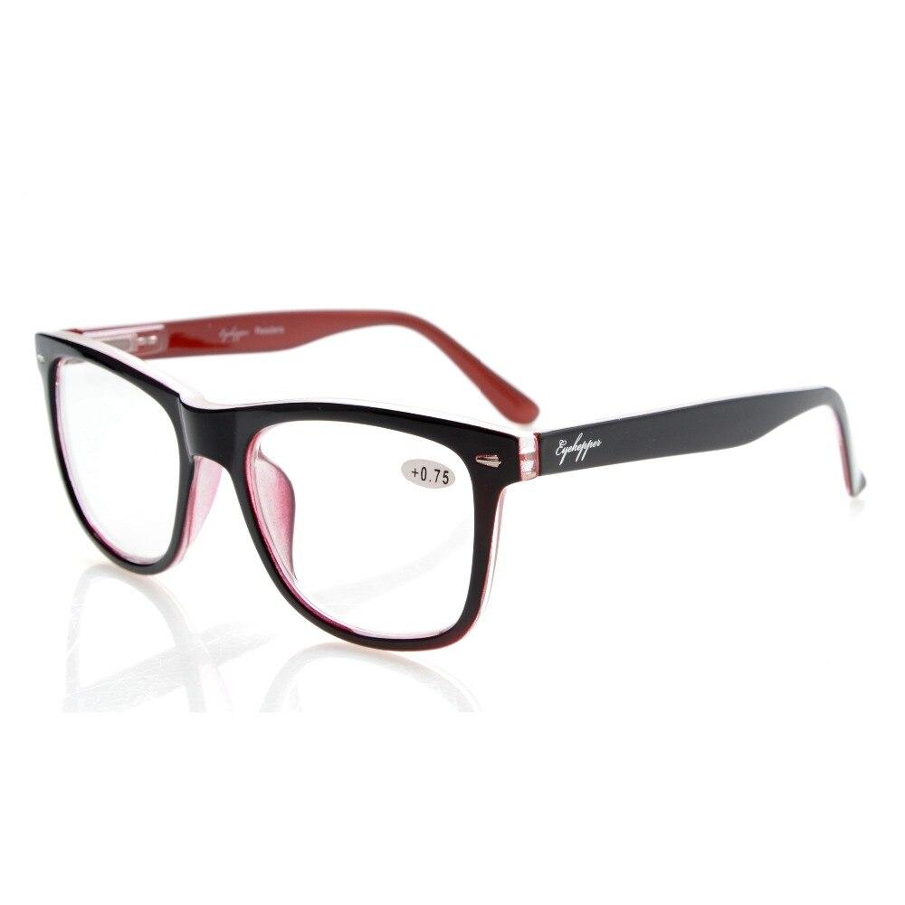 R080 eyekepper lecteurs carré grand lentilles printemps-charnières lunettes de lecture et lunettes de lecture hommes femmes + 0.50 --- + 4.00