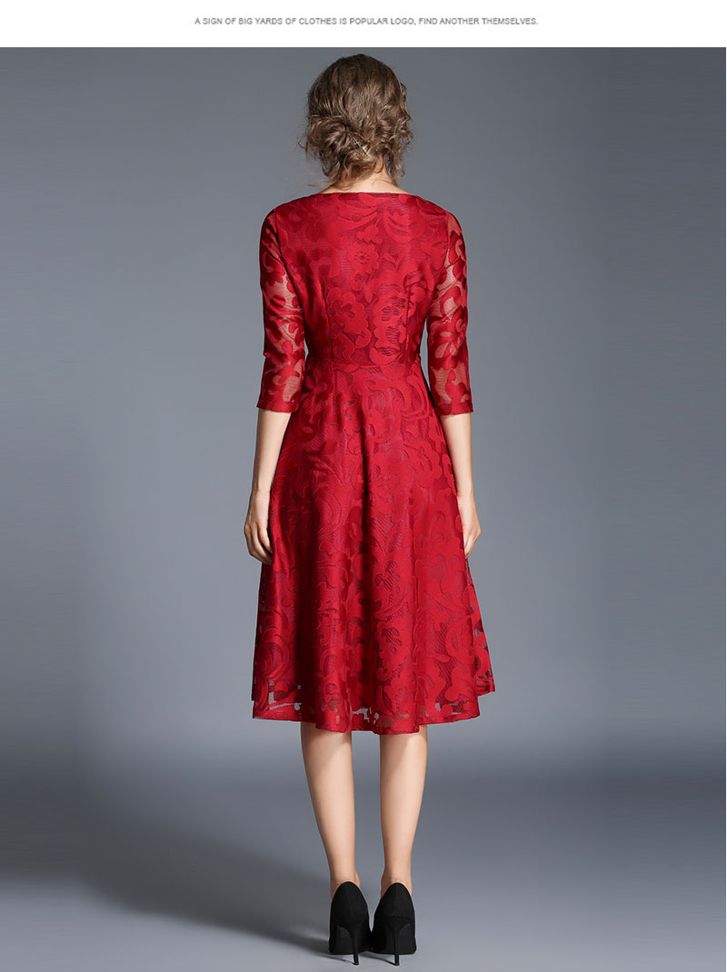 Borisovich New 18 Spring Fashion England Style Luxury Elegant Slim Ladies Party Dress Women Casual Lace Dresses Vestidos M107 11