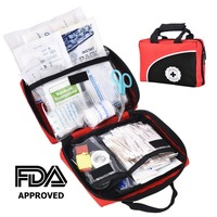 First Aid Kit 115 Pieces Quality Medical Supplies Home Outdoor Survival Bag for Car Travel Sports Kayaking Hiking Camping