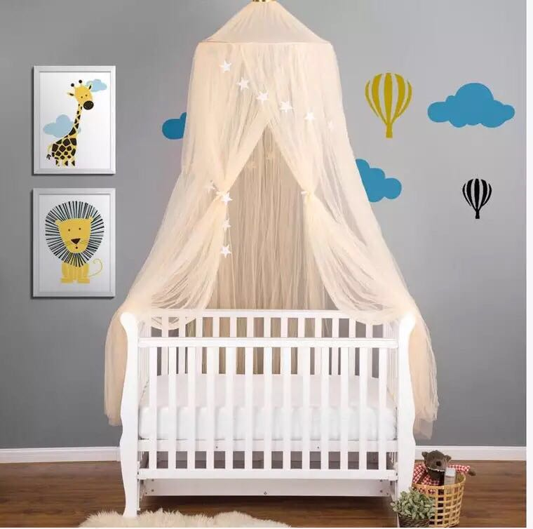 1 Pcs Kinder Bett Moskito Net Baby Kuppel Zelt Traum Bett Prinzessin Kid Bett Abdeckung Mesh Vorhang Sterne Anhänger Möbel Dekoration