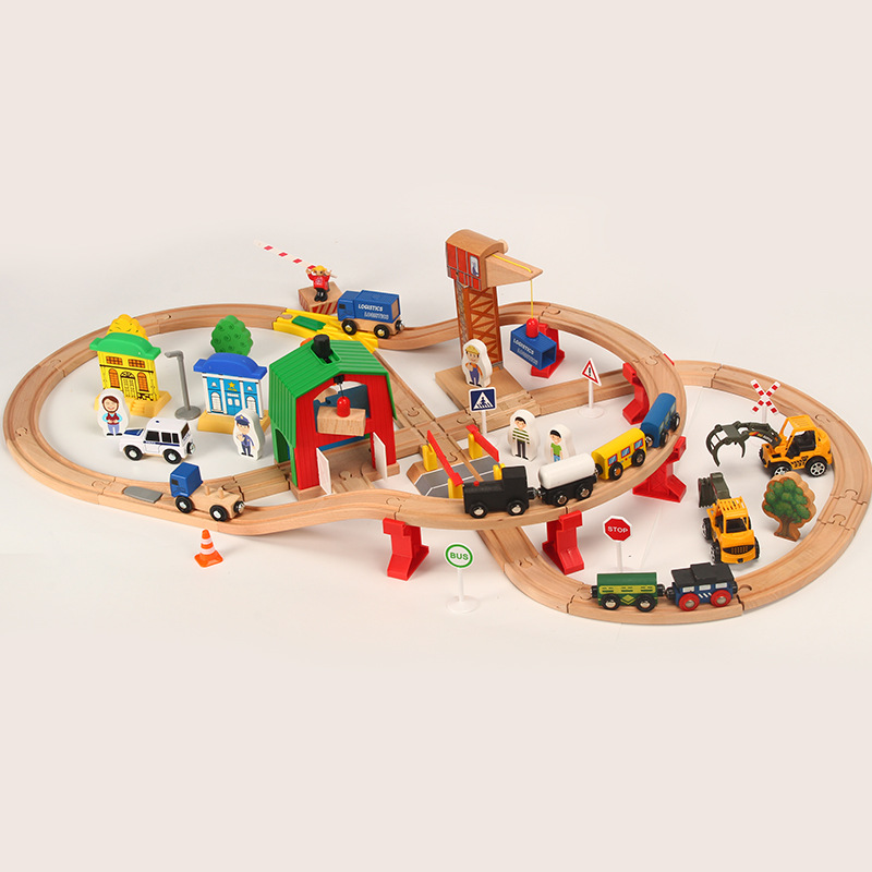 Wooden Train Track Set Kids Wooden Railway Puzzle Slot Transit Wood Thoman Tracks Rail Transit Train Railway Toys For ChildrenWooden Train Track Set Kids Wooden Railway Puzzle Slot Transit Wood Thoman Tracks Rail Transit Train Railway Toys For Children