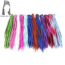 Desejo para o cabelo pacote 1 10 vertentes 90 cm 120 cm longo de lã de feltro Nepal dreadlocks sintéticos tranças do cabelo para crianças e adultos