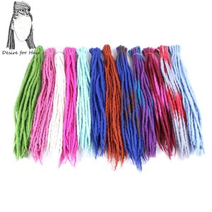 Image 1 - Desire for hair 1bundle 10strands 90cm 120cm long Nepal felted wool synthetic dreadlocks braids hair for kids and adult
