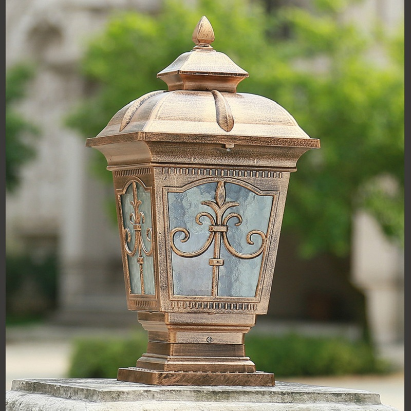 Фотография Outdoor LED Pillar Lights Europe Retro Style Aluminum Luminary For Garden Courtyard Fence Wall Gate Park Cottage Decoration Lamp