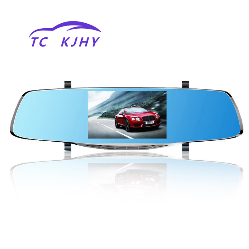Auto 5 Inch Screen High Definition Front and Rear Dual Lens Dash Cam Car Dvr Data Recorder 12 Million Pixel Recorder Diaplay