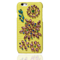 Luxury Bling Crystal Diamond Genuine Leather Phone Cover Coque For IPhone 6 Case 6s 7 Plus