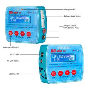 Image 3 - HTRC Imax B6 Mini V2 80W 7A Kỹ Thuật Số RC Pin Cân Bằng Sạc Adapter PB Lipo Lihv Liion Cuộc Sống niCD NiMH Pin Discharger