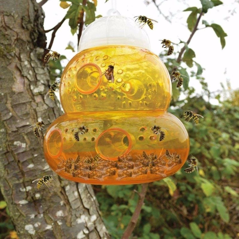 Hanging Traps Beehive Wasp Trap Hornets Yellow Jackets Wasp Repellent Hornet Trap Home Garden Wasp Hornet Killer Bee Catcher
