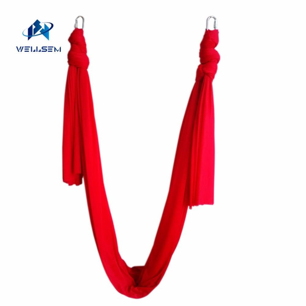 6 mètre longueur Dernières Multifonction volant De Yoga Hamac Balançoire Trapèze Anti-Gravité Inversion Aérienne Dispositif De Traction De Yoga ceintures