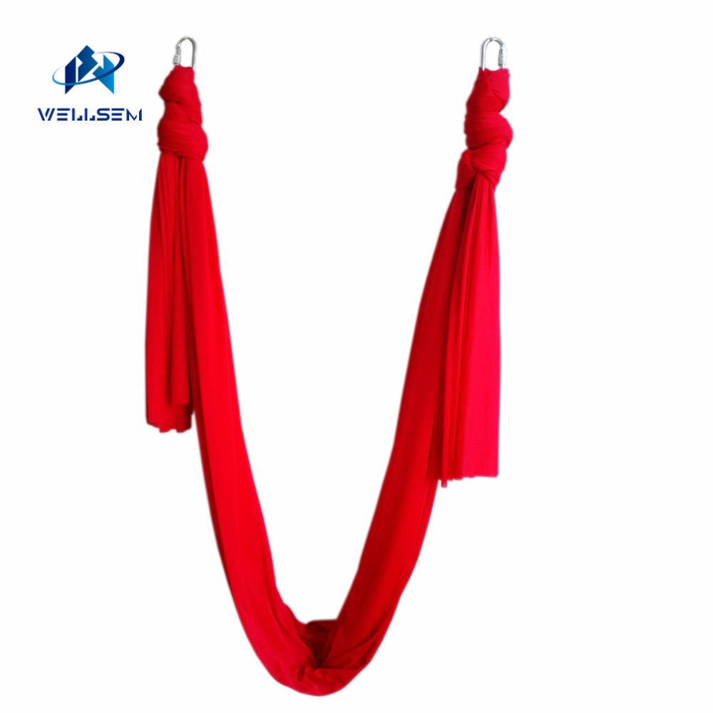 6meter length Latest Multifunction flying Yoga Hammock Swing Trapeze Anti-Gravity Inversion Aerial Traction Device Yoga belts 16 colors inversion trapeze anti gravity aerial traction yoga gym strap yoga swing set strength decompression yoga hammock suits