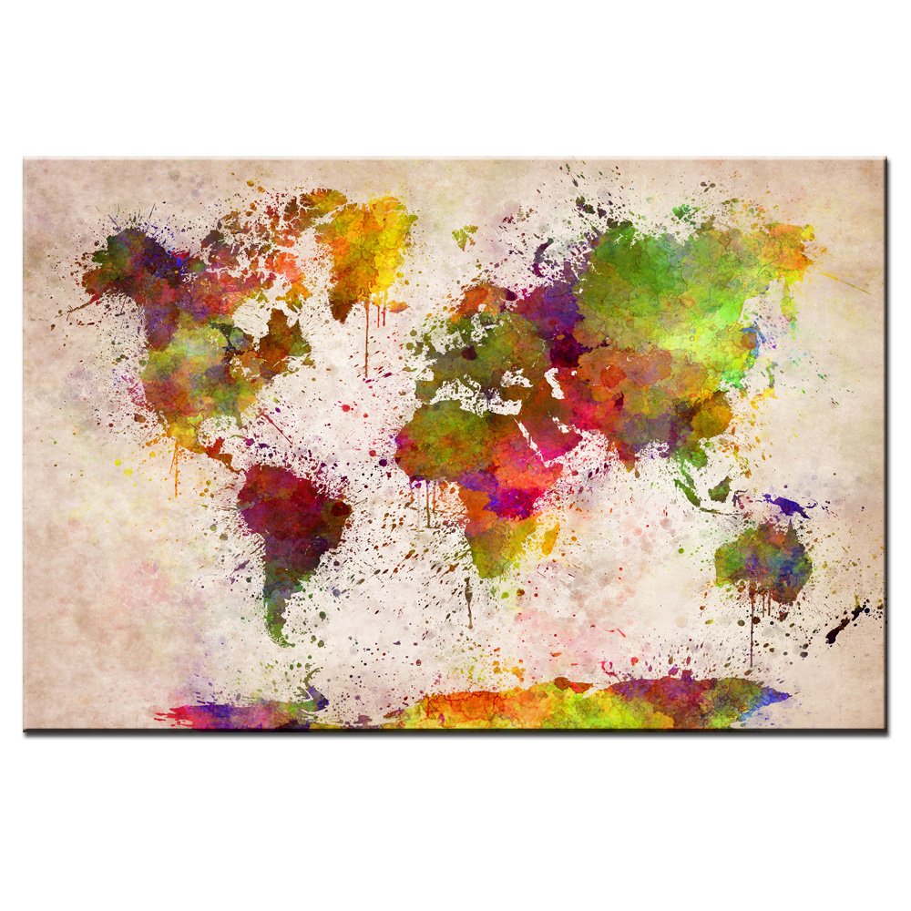 Canvas painting graffiti art prints world map canvas poster print canvas painting graffiti art prints world map canvas poster print for living room bedroom home decoration in painting calligraphy from home garden on gumiabroncs Choice Image
