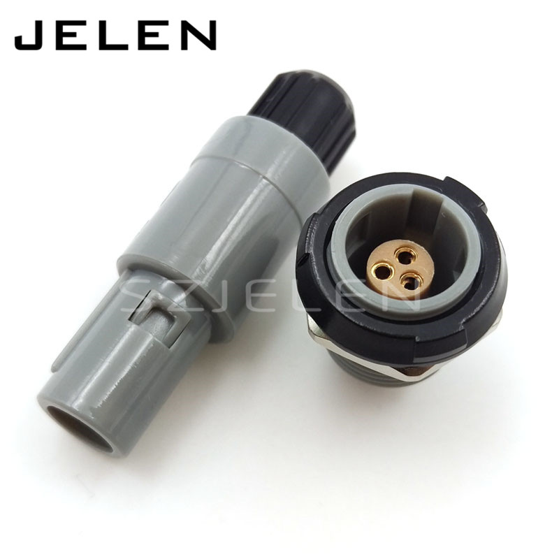SZJELEN 1P connector 3 pin Plug and socket, PAG/PLG 3 pin, Power connector, rated current 9A , Medical Accessories szjelen 1b connectors 10 pin female connectors plug phg 1b 310 cll medical connector power plug 10 pin