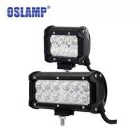 כוס השתקפות Oslamp 7 inch אורות עבודה הובילו 4x4 4WD OffRoad נהיגה Led אור 4 אינץ ספוט/מבול 12 v 24 v טרקטורונים רכב משאית SUV סירת