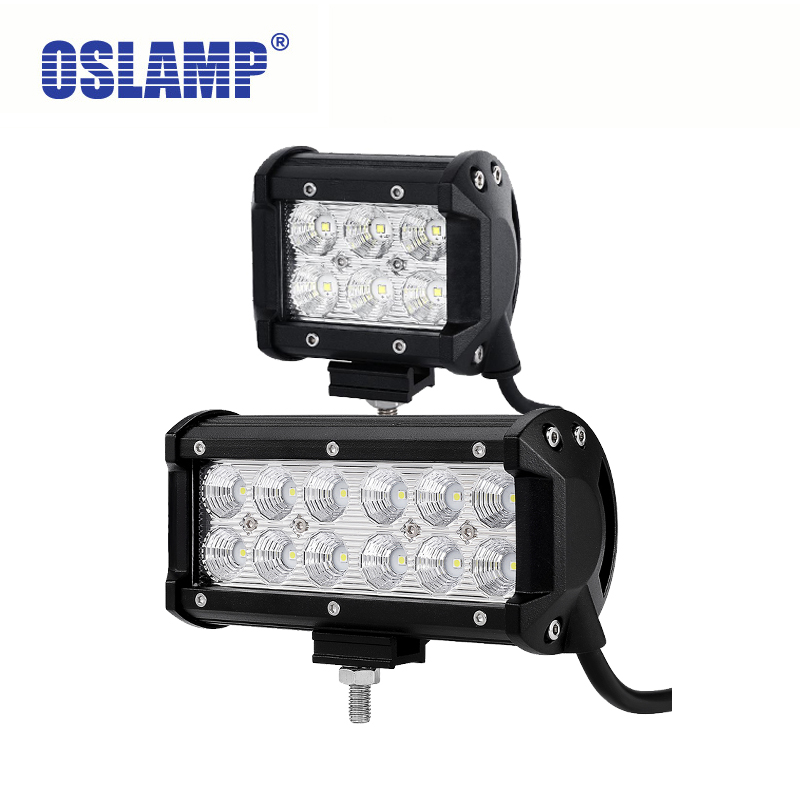 Oslamp Reflection Cup 7inch LED Work Lights 4x4 4WD OffRoad Driving Led Light 4inch Spot / Flood 12v 24v ATV Boat SUV Truck Car 7inch 90w red black led spot driving work light for atv 4x4 boat off road head light truck car 4wd suv led offroad ligh x1pc