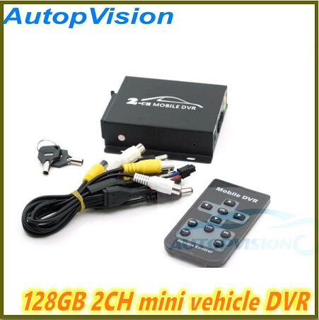 Realtime SD 128GB Card Recording Mobile Bus Vehicle Truck Car DVR Recorder System 2ch Audio with
