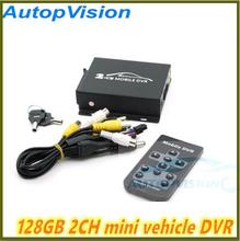 Realtime SD 128GB Card Recording Mobile Bus Vehicle Truck Car DVR Recorder System 2ch Audio with Lock Security CCTV 2CH DVR