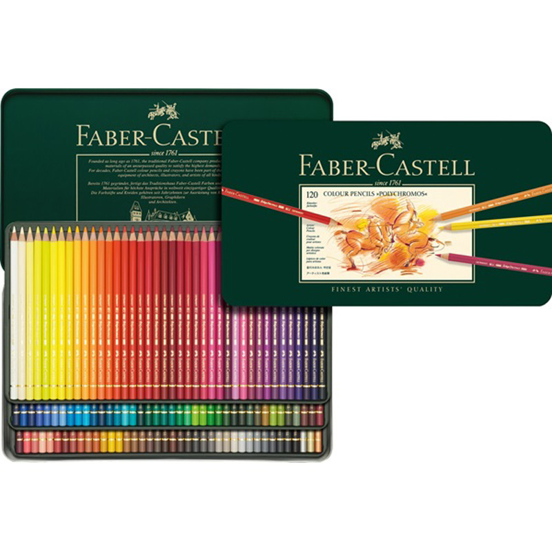 FABER CASTELL The Artist Series oily color pencil 12/24/36/60/120 color oil color lead tin green suit
