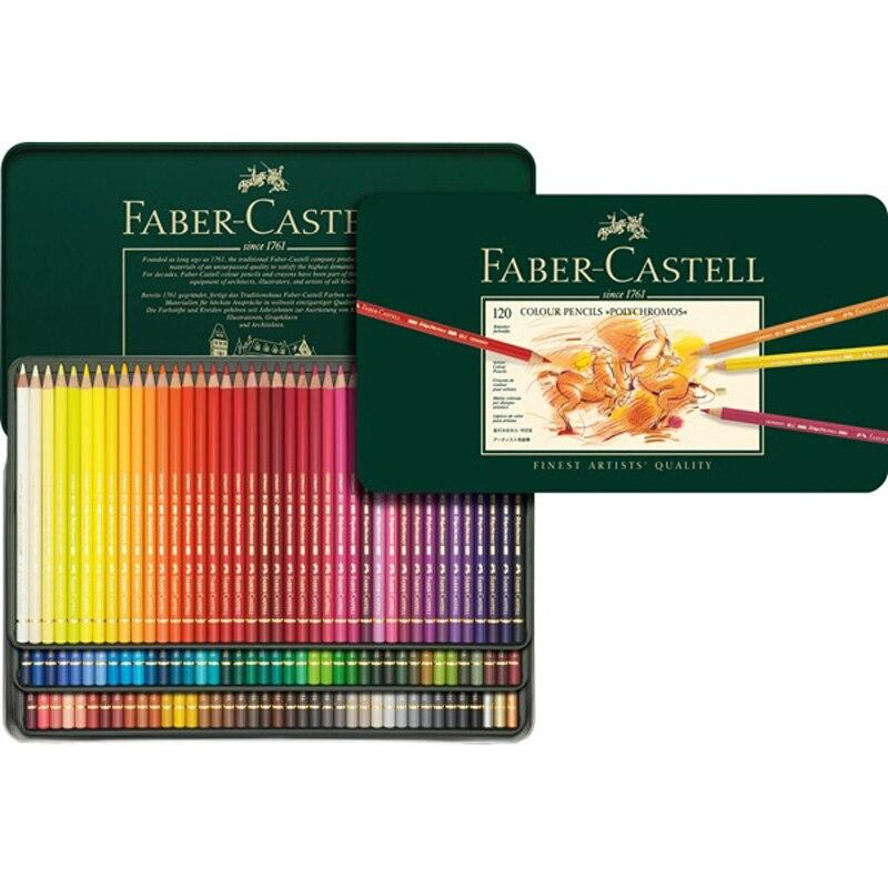 FABER CASTELL The Artist série crayon de couleur grasse 12/24/36/60/120 couleur huile plomb étain vert costume