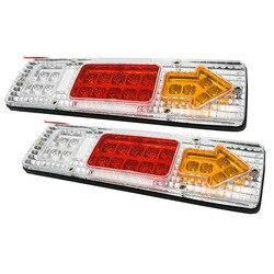 2шт 24 в 19 светодиодный автомобильный Грузовик тормозной Стоп-сигнал задний светильник для прицепа лампы индикаторные фонари заднего хода д...