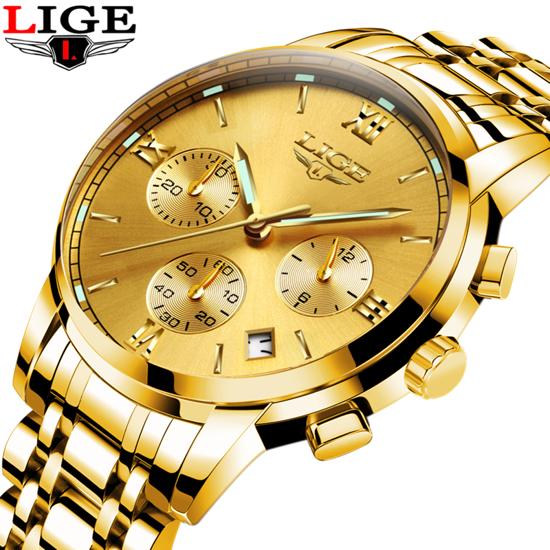 LIGE Top Brand Luxury Mens Watches Fashion Casual Sport Wristwatch Men Date Quartz Clock Man Army Military Watch Relojes Hombre mens watch top luxury brand fashion hollow clock male casual sport wristwatch men pirate skull style quartz watch reloj homber
