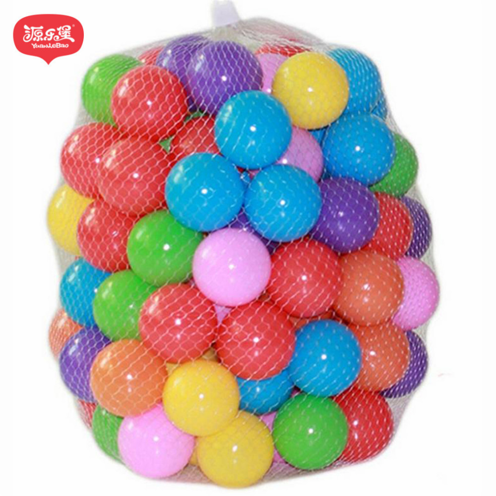 Yuanlebao 7CM 100pcs Eco-Friendly Colorful Soft Plastic Water Pool Ocean Wave Ball Baby Funny Toys Stress Air Ball Sports kids