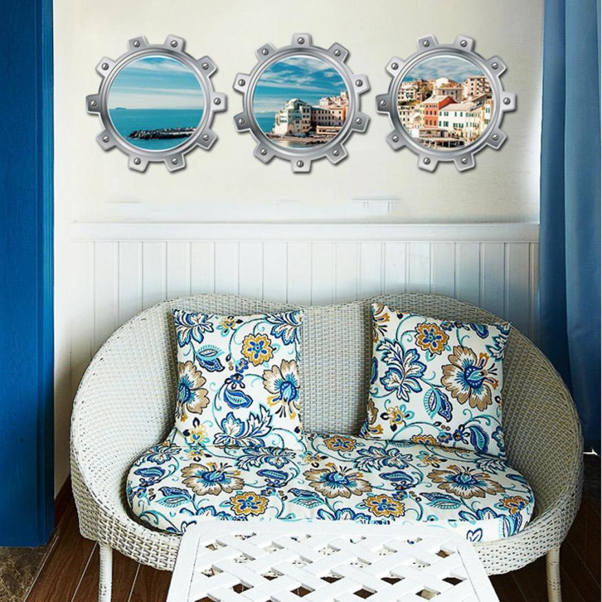 Home Decor Fantastic Submarine Portholes City Wall Sticker Home Decor wall sticker Home Deco mirror AU14
