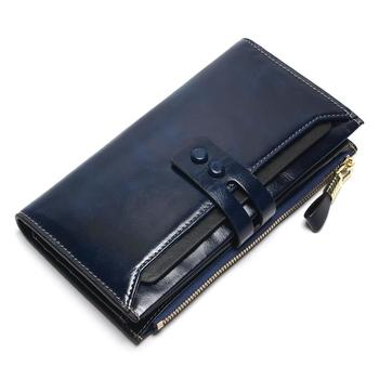 Women's Genuine Leather Clutch Wallet Bags and Wallets Women's Wallets Color: Blue