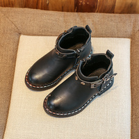 Autumn And Winter Children Shoes 2017 New Fashion Studded Kids Shoes Boys Girls Boots Warm Ankle