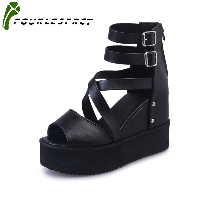 2018 Sexy Women Pumps Open Toe Buckle Strap Heels Sandals Woman sandals Thick with Women Shoes women High heels Black White 2016 summer peep toe thin thick high heels pumps with platform rhinestones buckle sandals women pu pink white blue sexy shoes