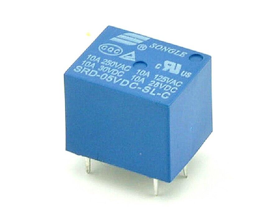 10 шт., 5 контактов, 5 В, T73 релейный переключатель, новый и оригинальный