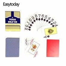 Easytoday 1Pcs/set PVC Playing Cards Red and Blue Baccarat Texas Holdem Waterproof Frosting Plastic Poker Games 2.48*3.46 Inch holdem light набор для покера holdem light на 240 фишек без номинала page 5